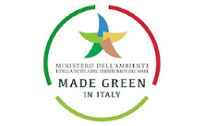 Il logo di Made Green in Italy.
